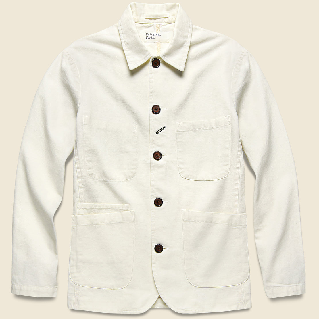 Universal Works Bakers Jacket - Ecru