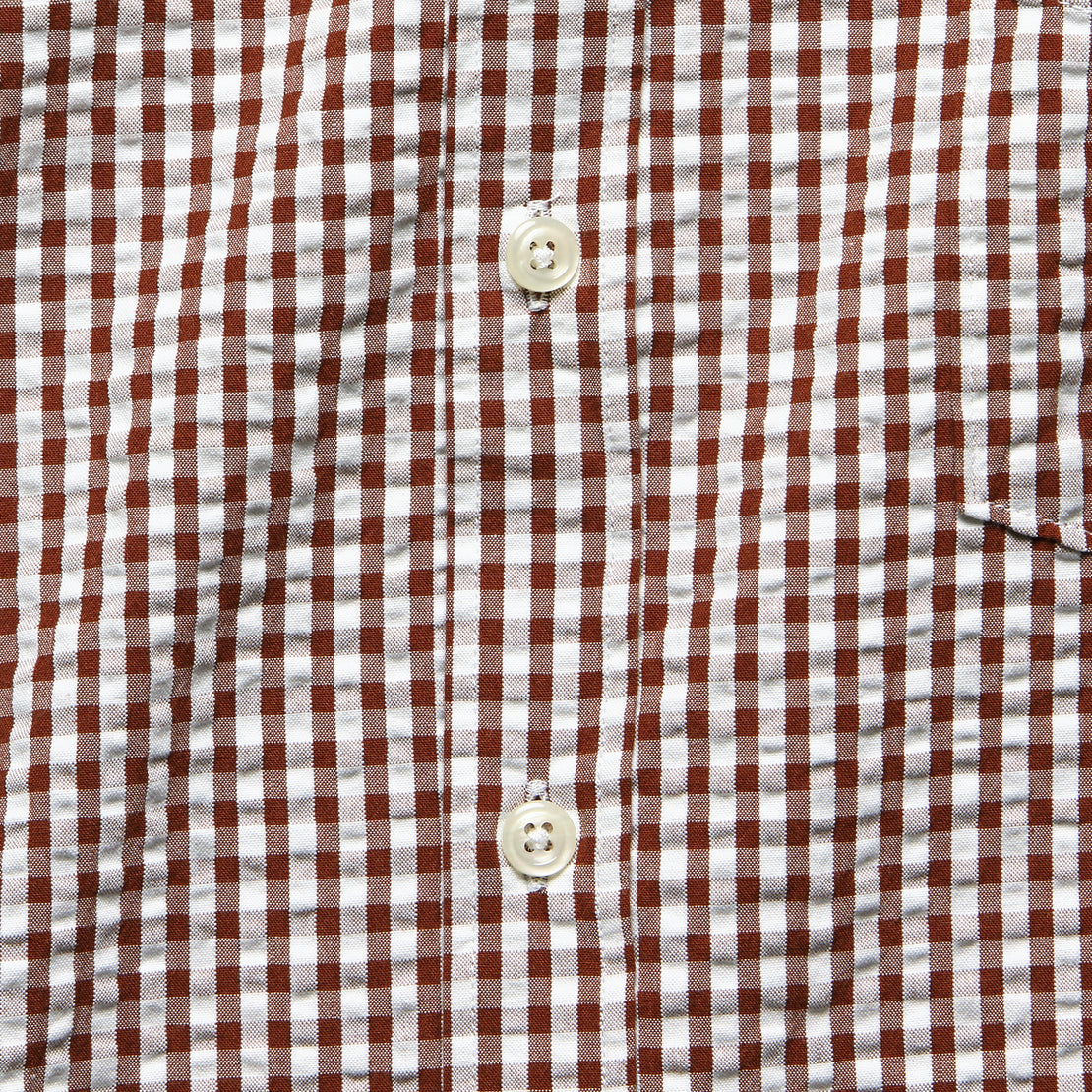 Everyday Shirt - Brown Gingham Seersucker