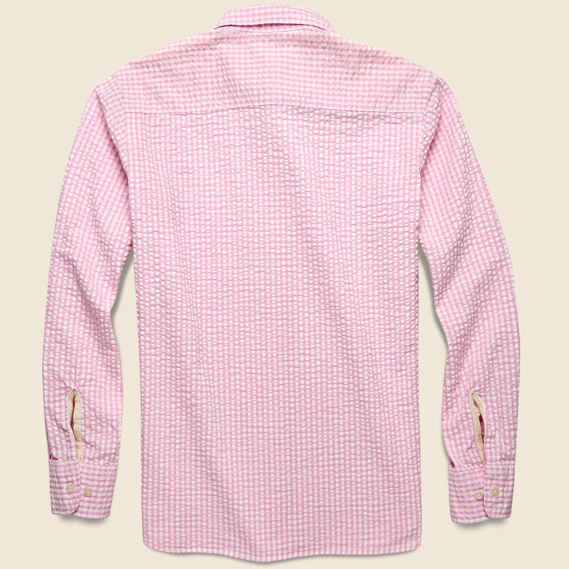 Everyday Shirt - Pink Gingham Seersucker