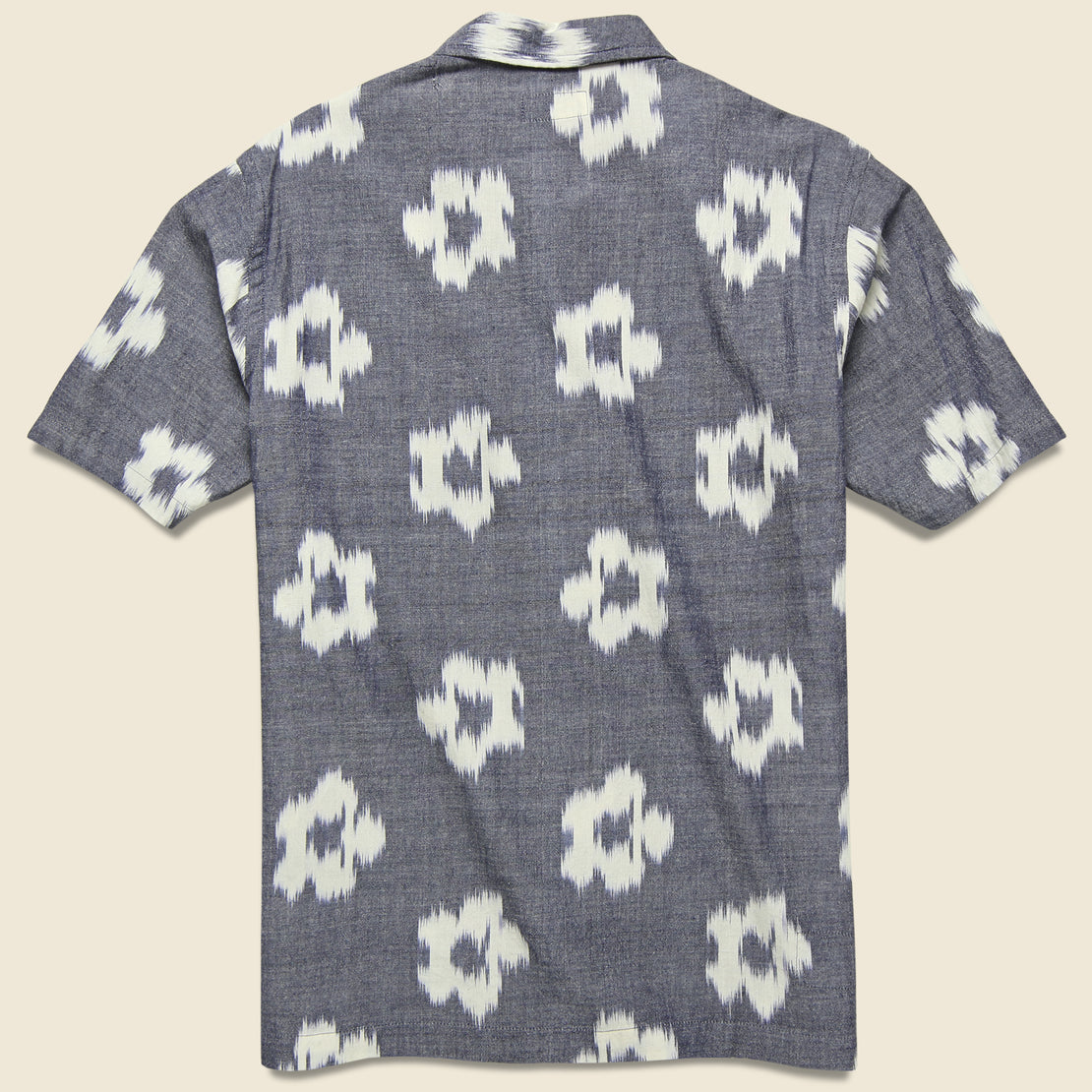 Road Shirt - Grey Ikat Flower