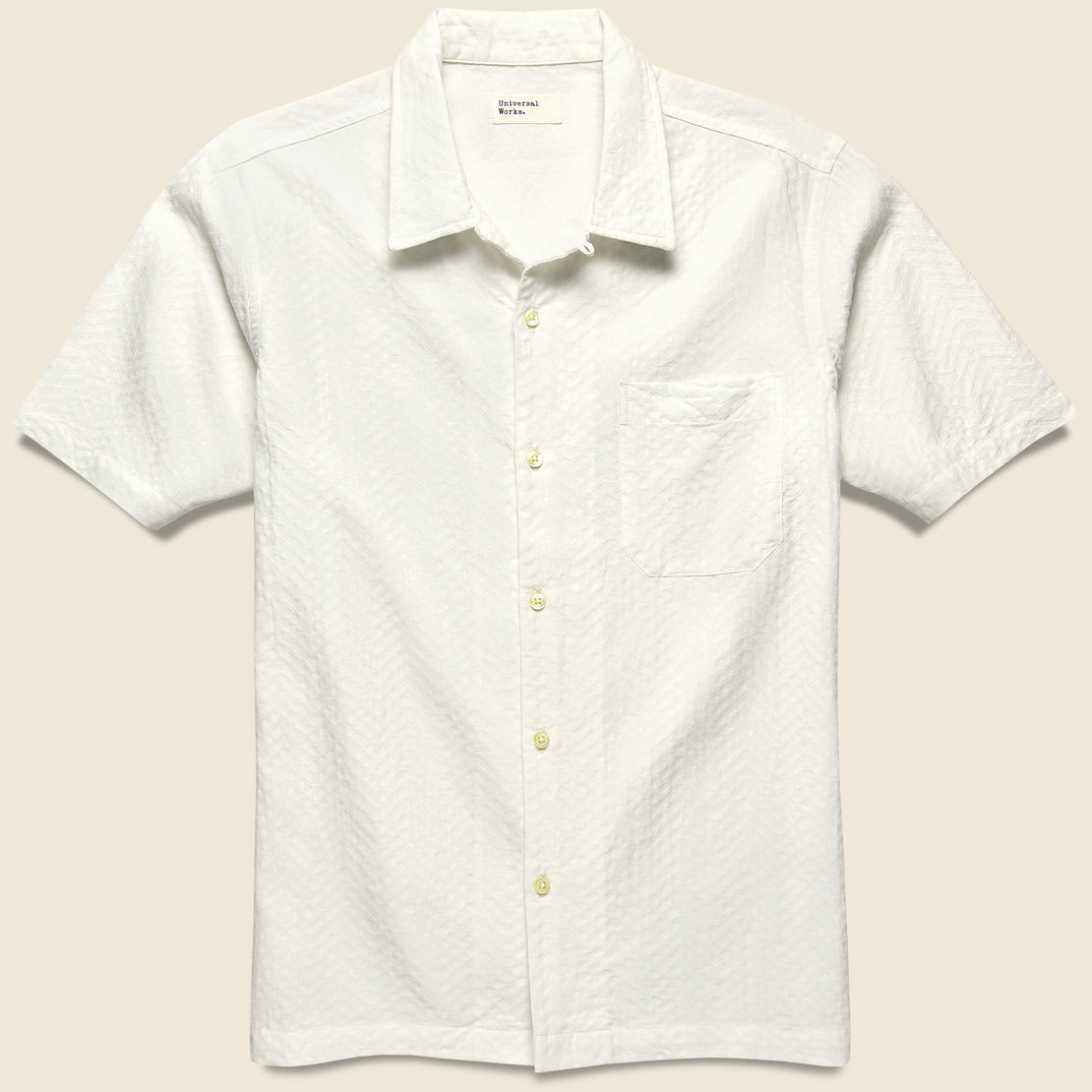 Universal Works Road Shirt - White Weave