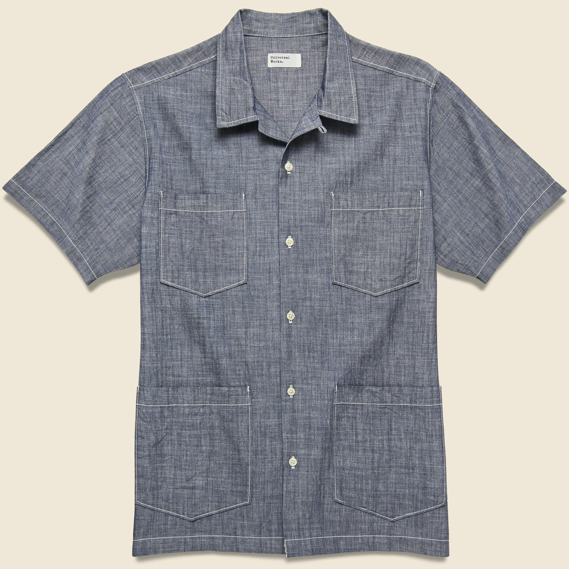 Universal Works The Summer Overshirt - Indigo Chambray