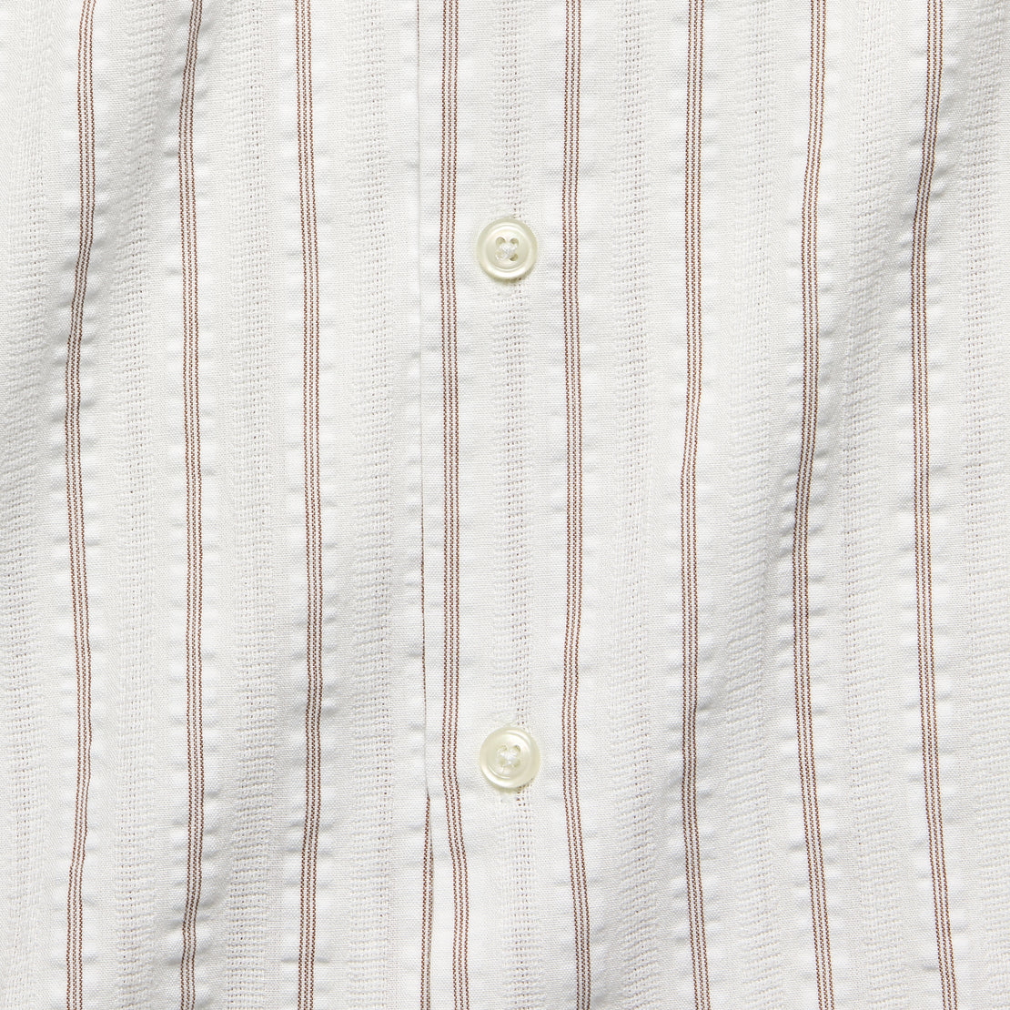 Road Shirt - White/Raisin Rancho Stripe