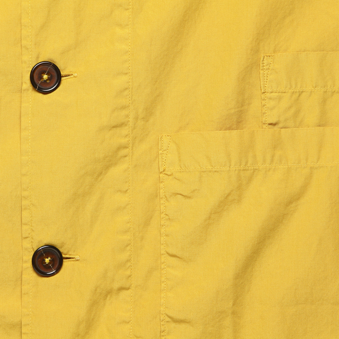 Bakers Poplin Overshirt - Gold