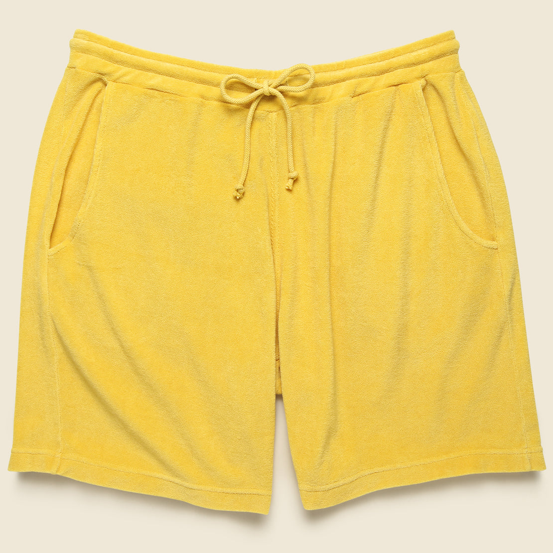 Universal Works Terry Fleece Beach Short - Gold