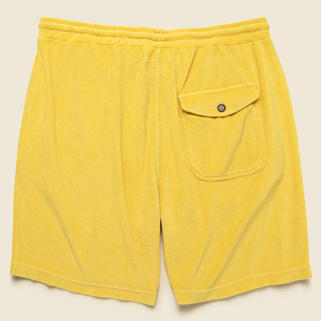Terry Fleece Beach Short - Gold
