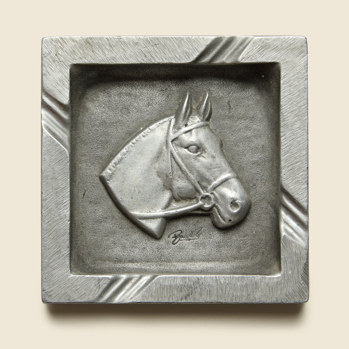 Vintage Cast Horse Ashtray