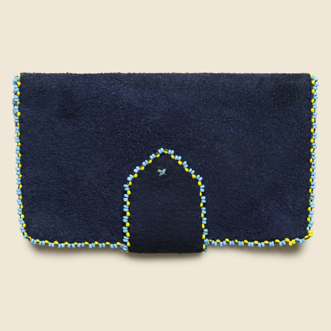 Beaded Suede Wallet