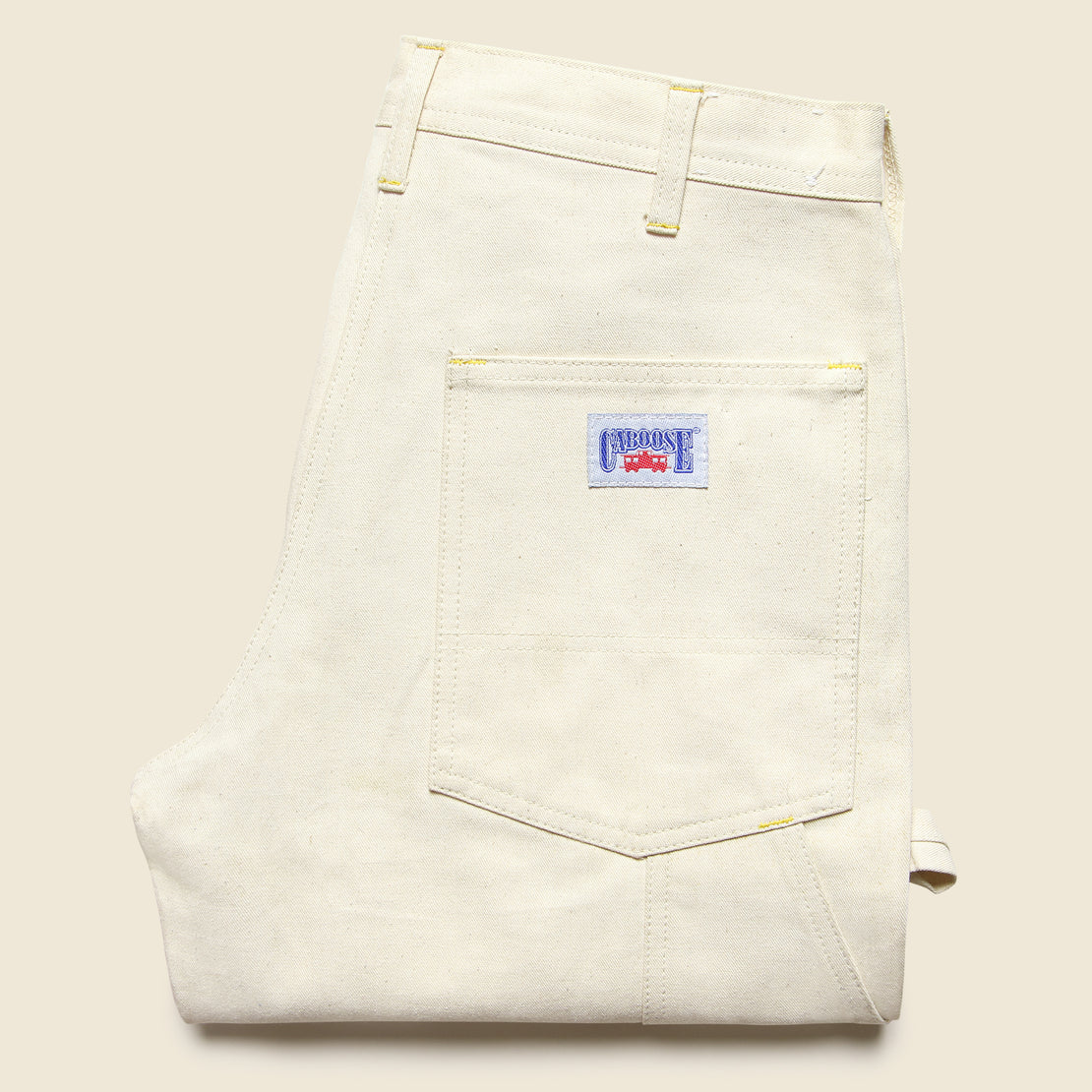 Deadstock Caboose Canvas Pants - Natural