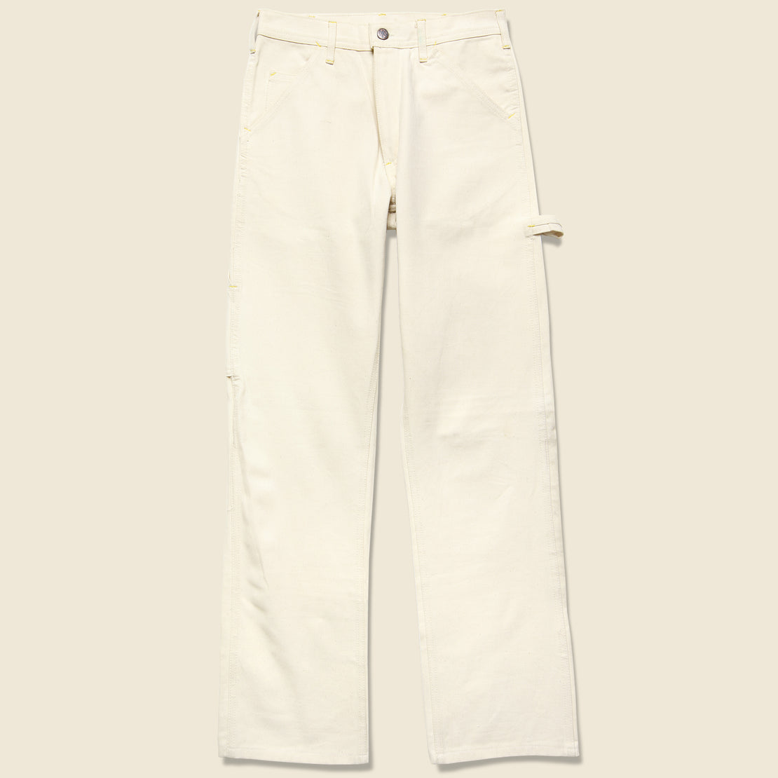 Vintage Deadstock Caboose Canvas Pants - Natural