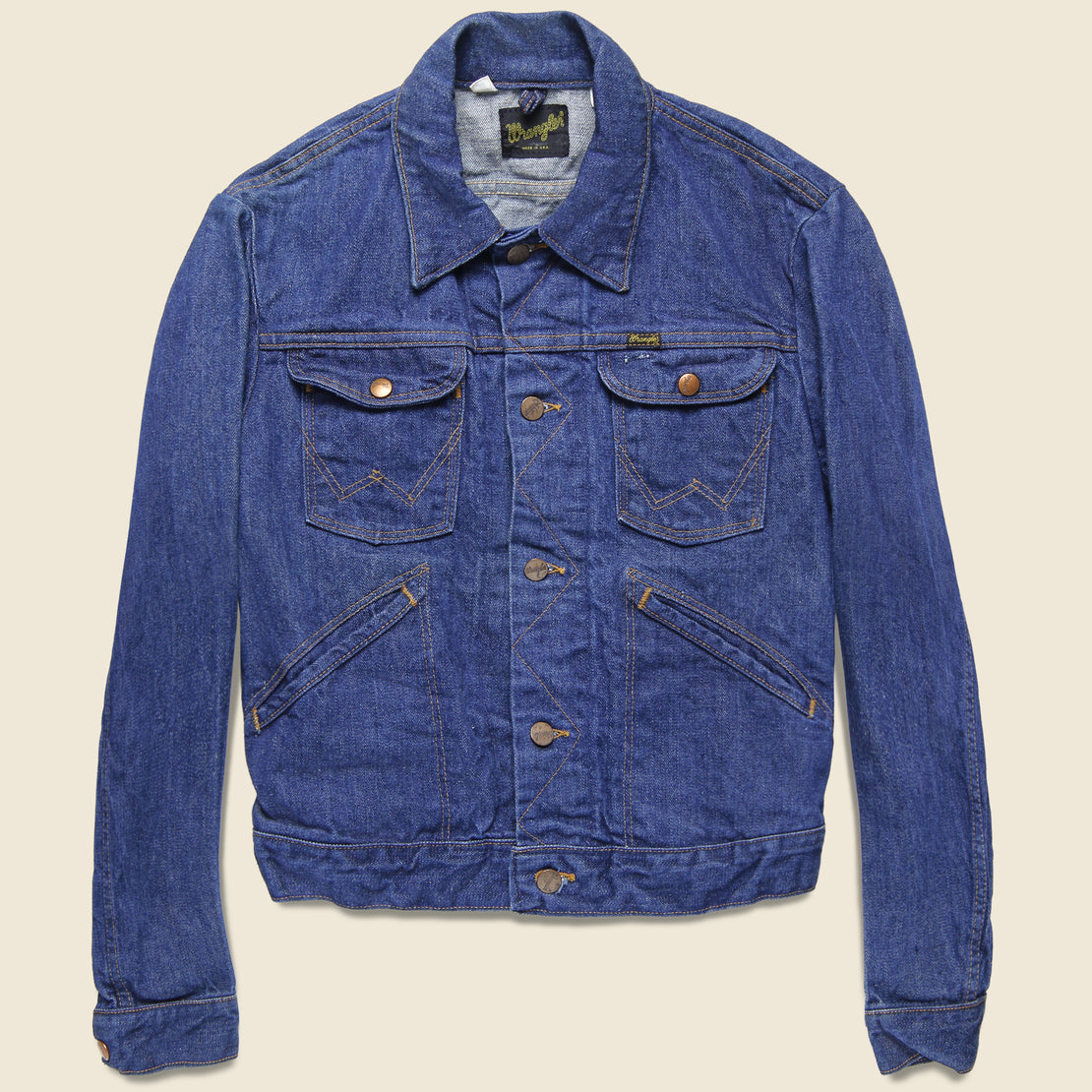 Vintage Wrangler Selvedge Denim Jacket - Dark Wash