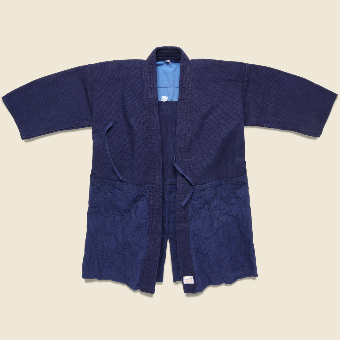 "Vintage Sashiko Quilted ""Cow Boy"" Kendo Jacket - Dark Indigo"