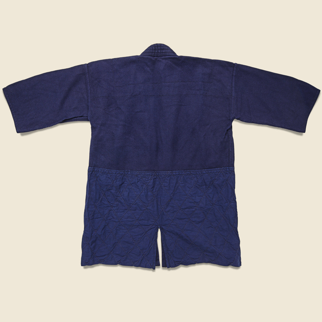 "Sashiko Quilted ""Cow Boy"" Kendo Jacket - Dark Indigo"
