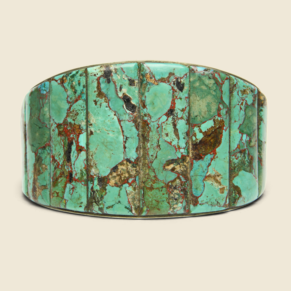 Vintage Double-Sided Turquoise Cuff - Sterling