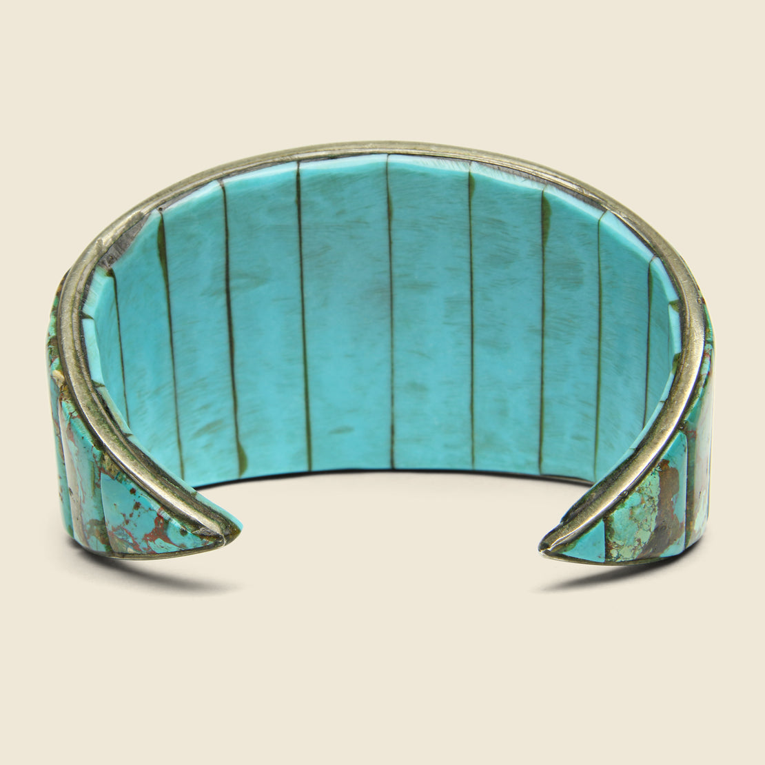 Double-Sided Turquoise Cuff - Sterling