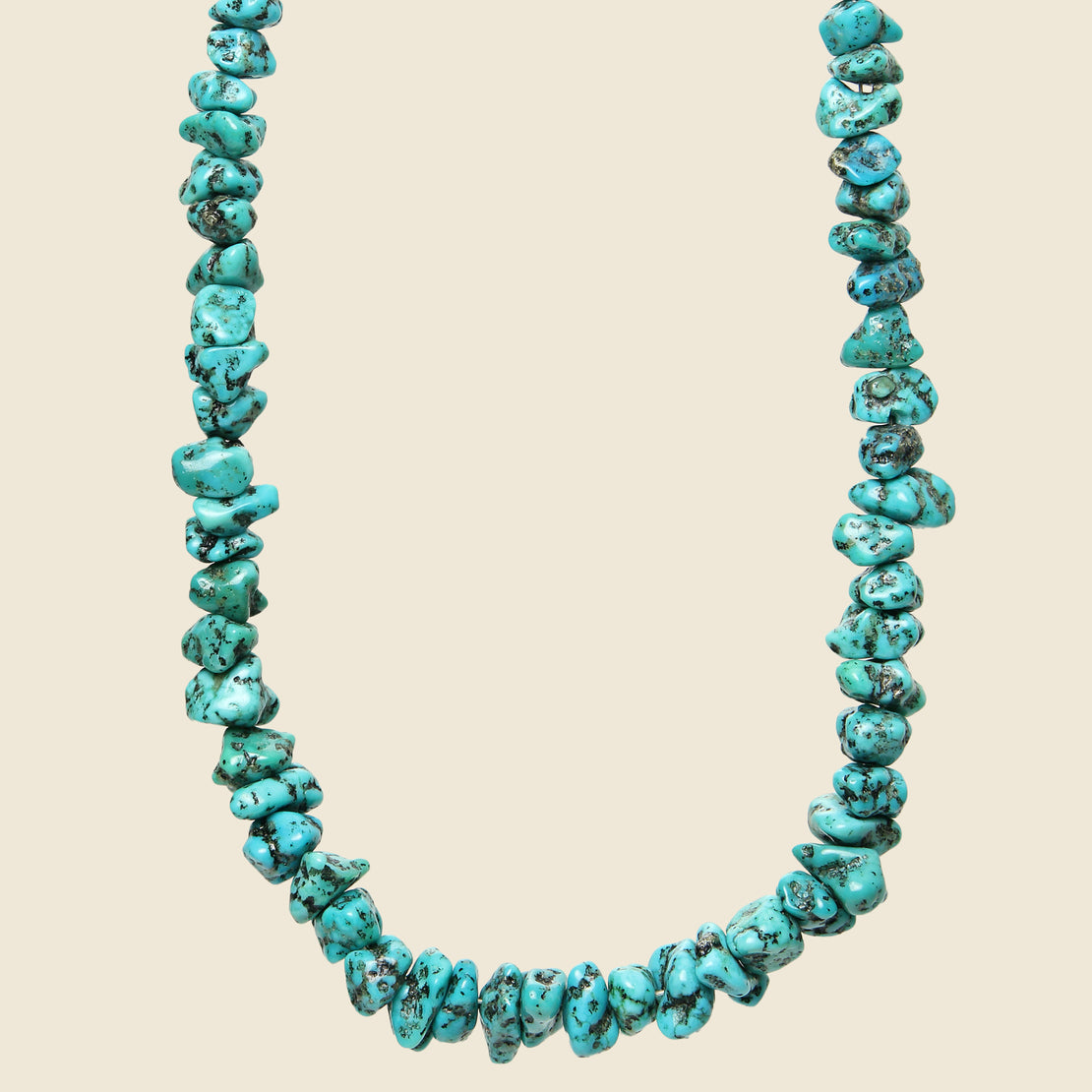 Sterling & Sleeping Beauty Turquoise Nugget Necklace