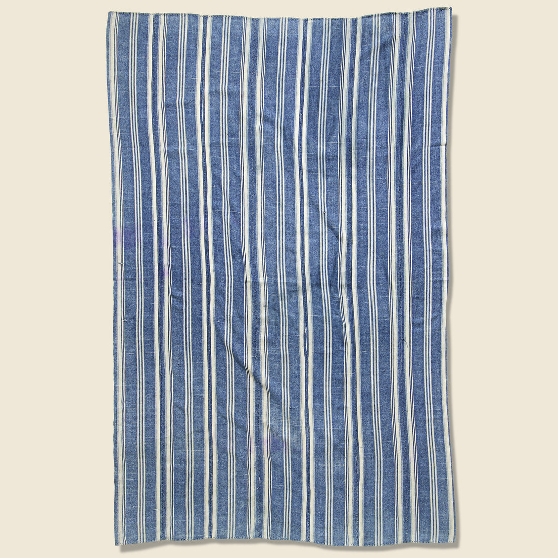 African Indigo Textile - Three Stripe Cream