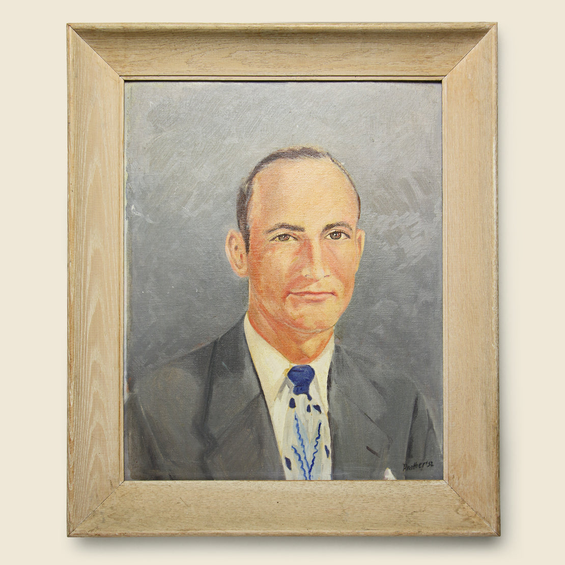 Vintage Mid Century Portrait - Suited Man