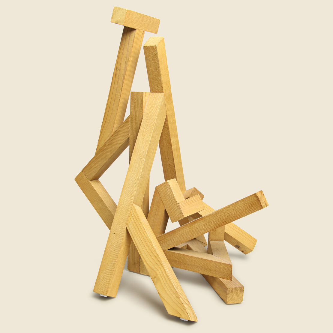 Vintage Wooden Geometric Sculpture