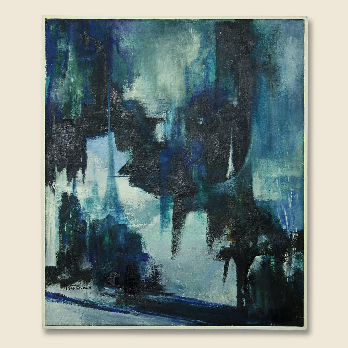 Art Gallery Mid-Century Abstract Painting