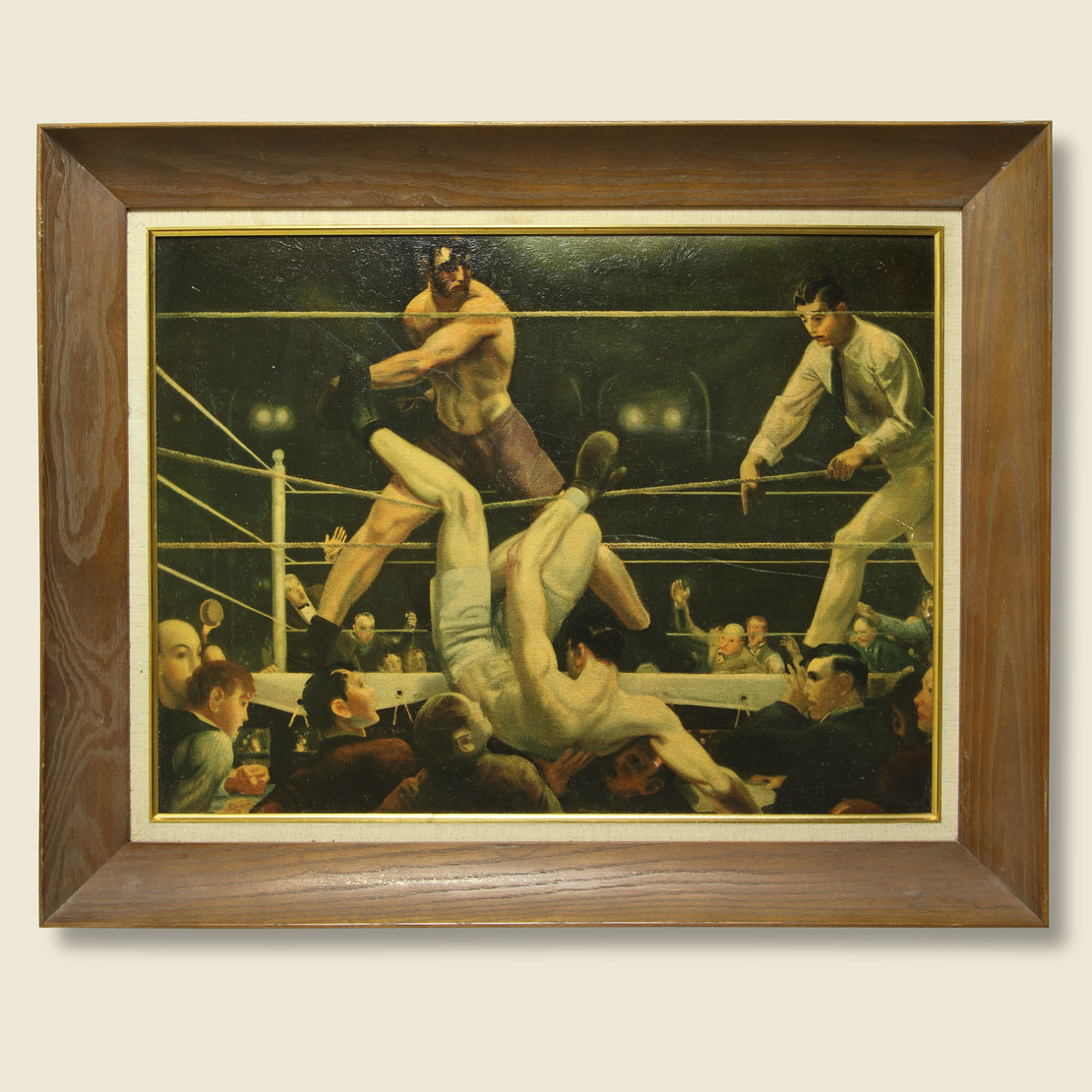 "Vintage George Bellows ""Jack Dempsey vs Luis Angel Firpo, Boxing"" Reproduction"