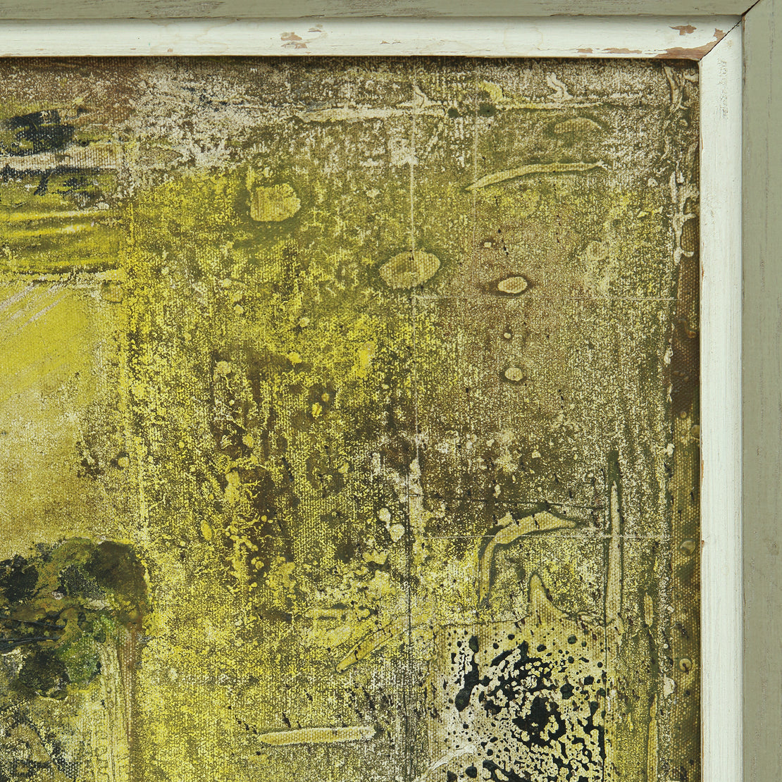 Mid-Century Abstract Painting - Citrine Wash