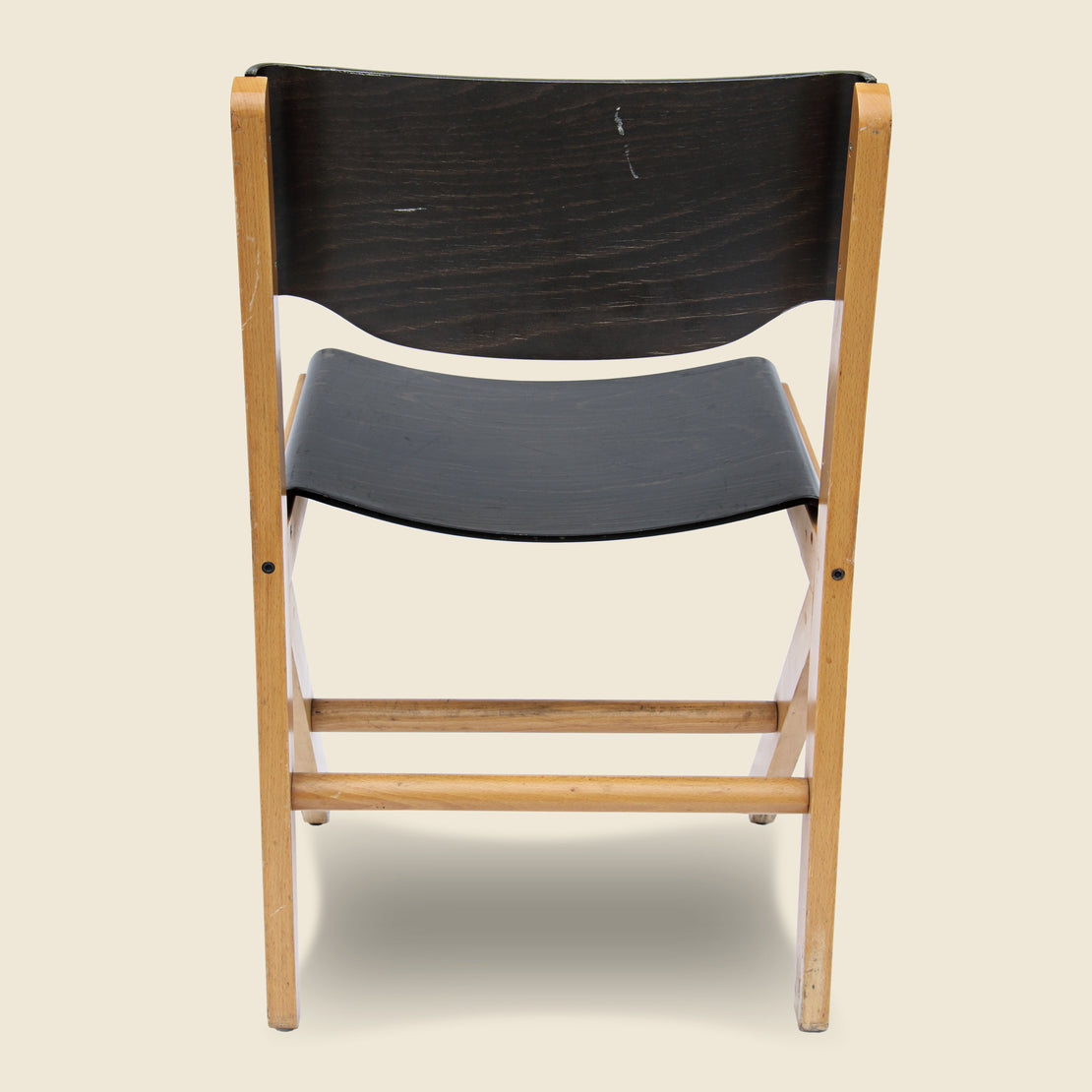 English Industrial Plywood Chair - Black