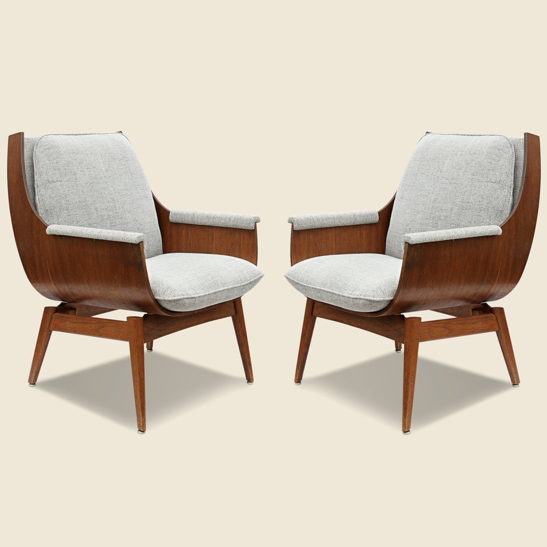 Vintage Mid-Century Plywood Chairs
