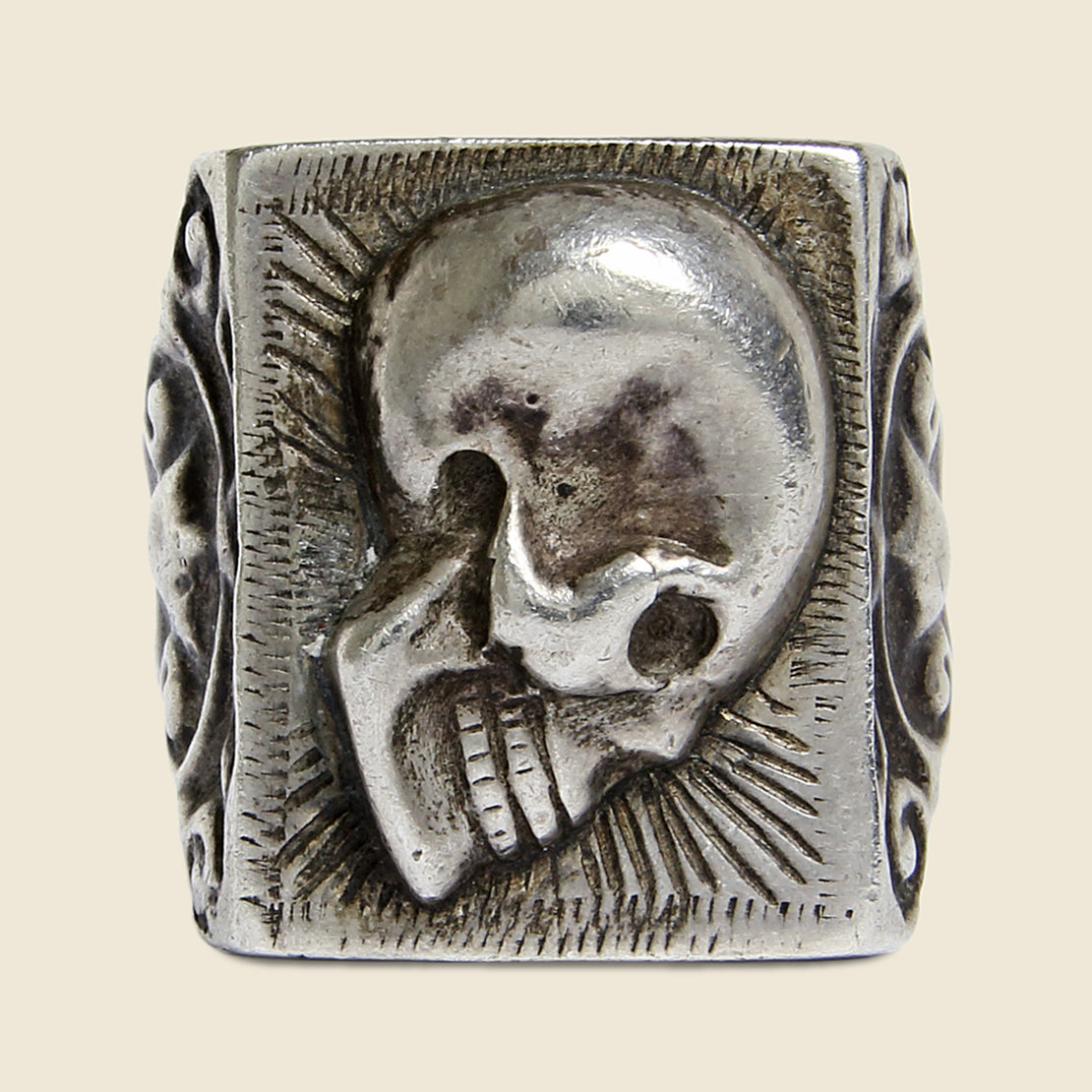 Sterling Silver Skull - Vintage - STAG Provisions - Accessories - Rings