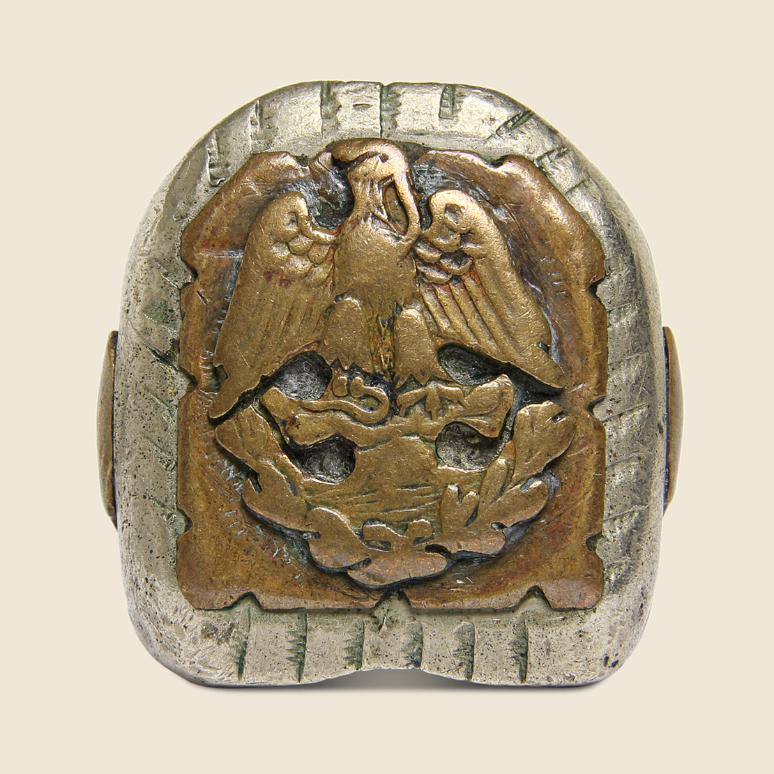 Eagle Crest Mexican Biker Ring - Vintage - STAG Provisions - Accessories - Rings