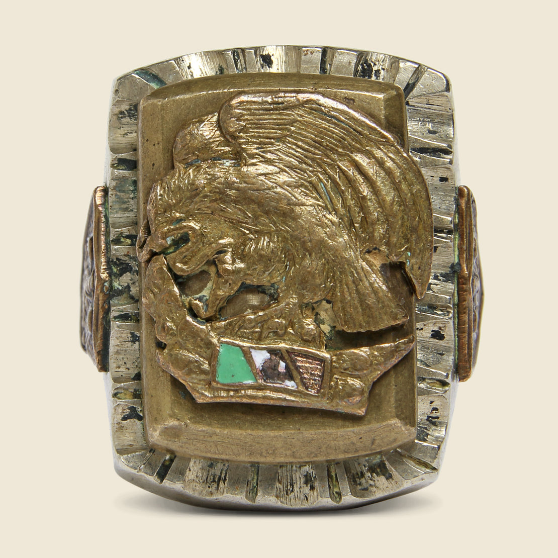 Mexican Flag Biker Ring