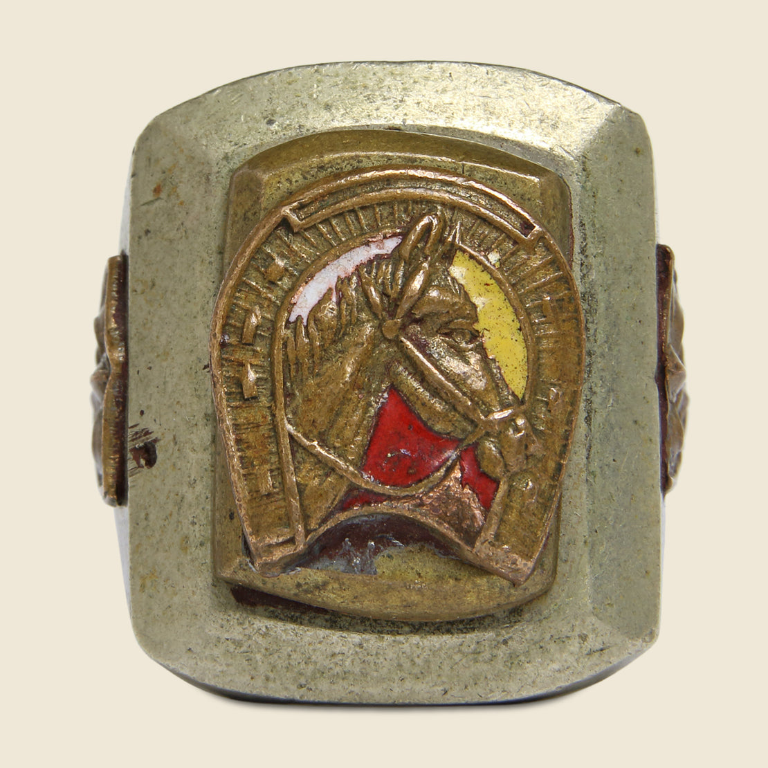 Enamel Horse Mexican Biker Ring - Vintage - STAG Provisions - Accessories - Rings