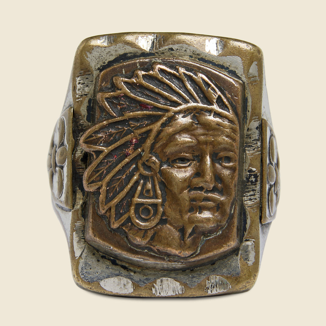 Chief Mexican Biker Ring - Vintage - STAG Provisions - Accessories - Rings