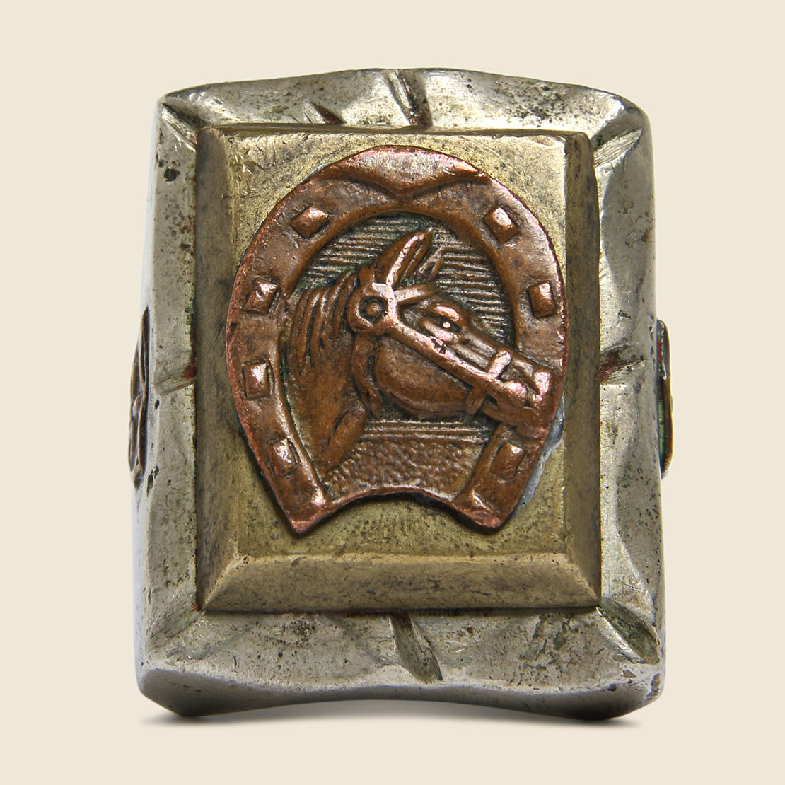 Horse Cameo Mexican Biker Ring - Vintage - STAG Provisions - Accessories - Rings