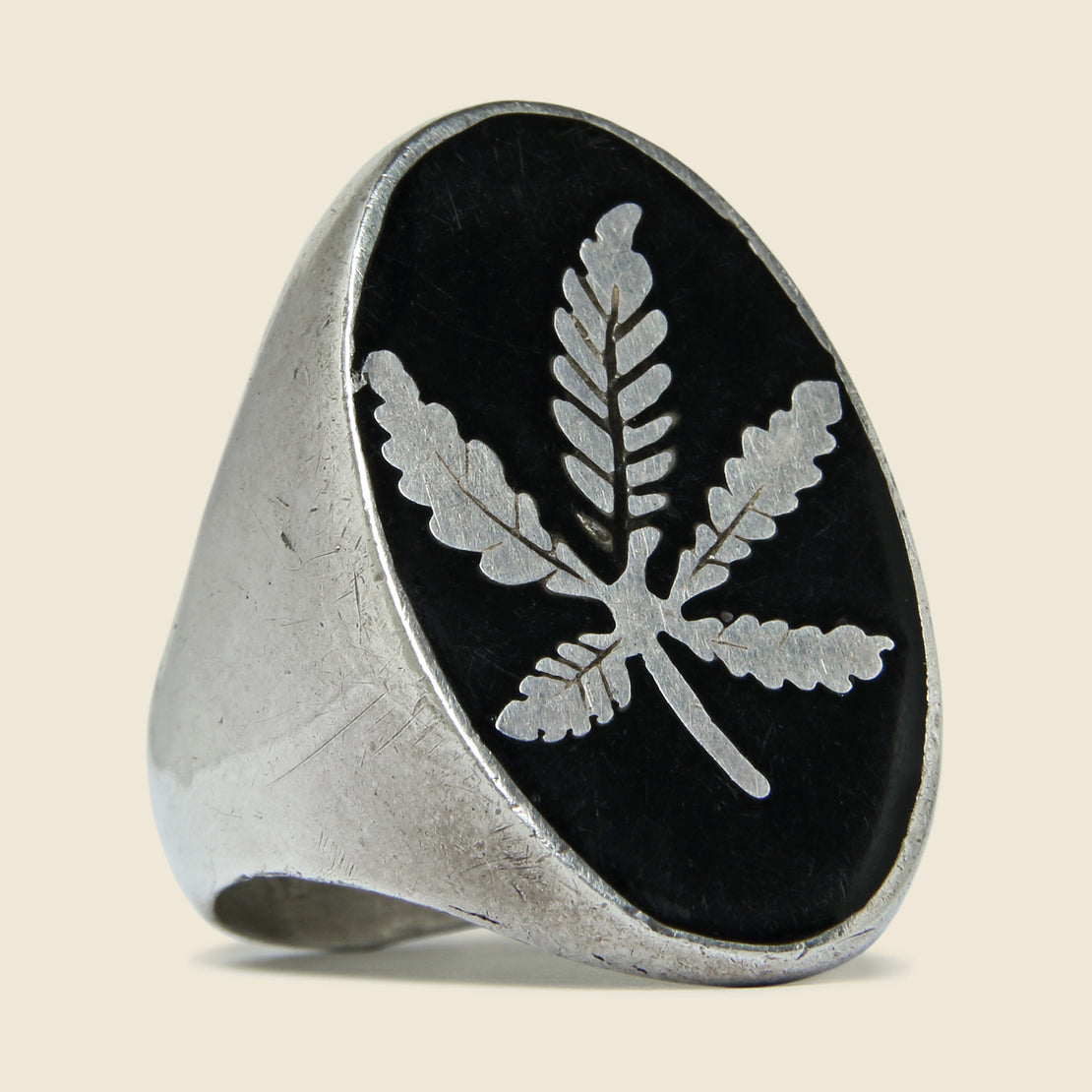 Vintage 1960s Sterling Silver Pot Ring