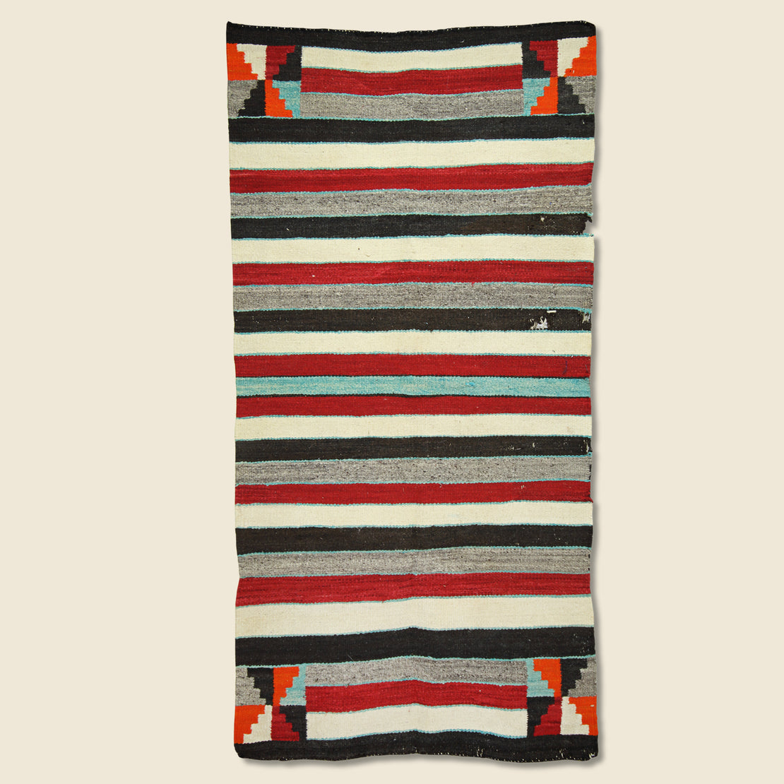 Vintage Native American Striped Rug