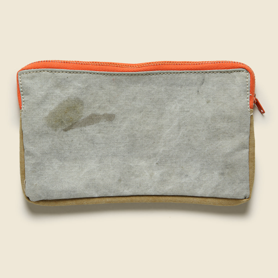 Zipper Pouch - Orange/Brown/Tan