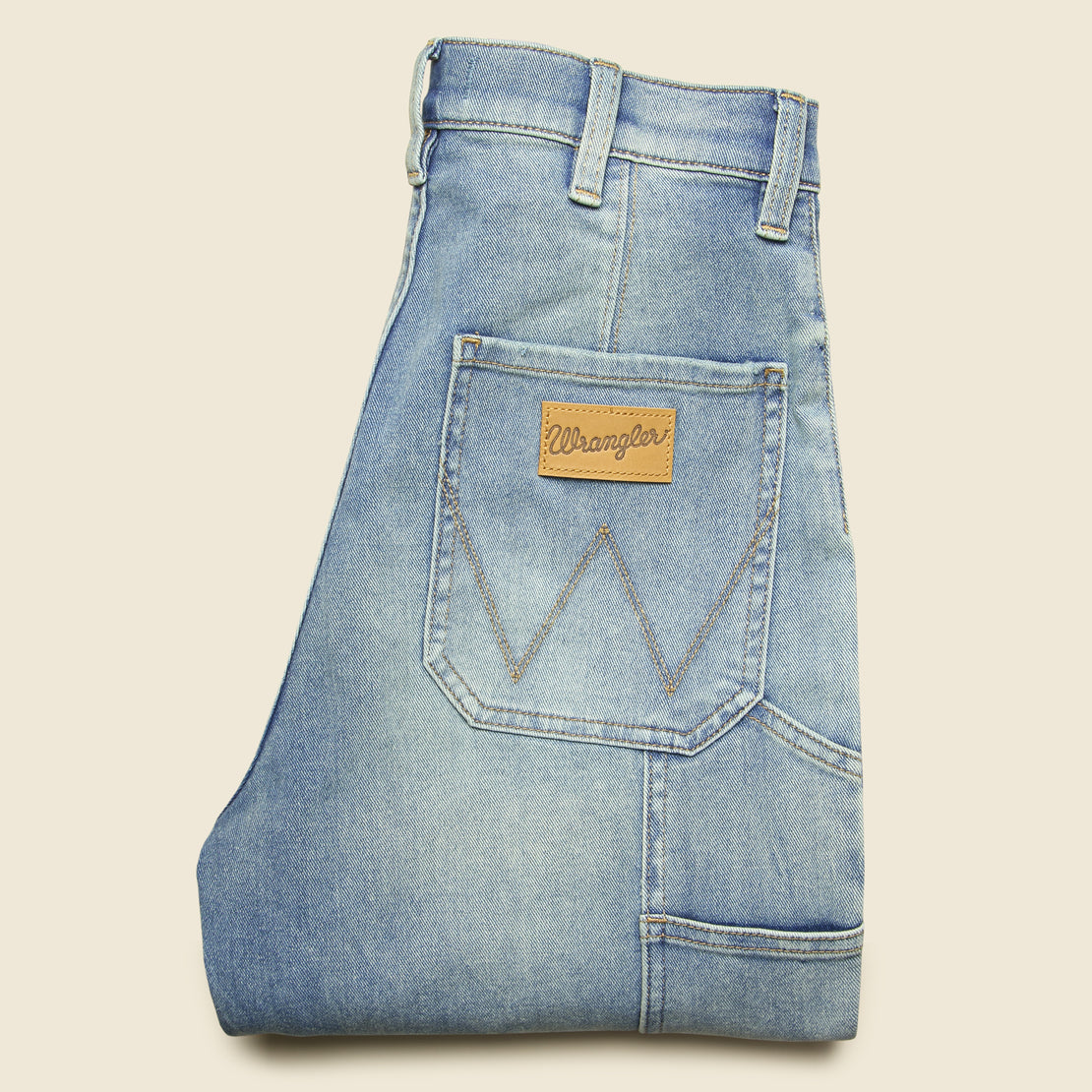 Wide Leg Utility Crop Jean - Hurricane Blue