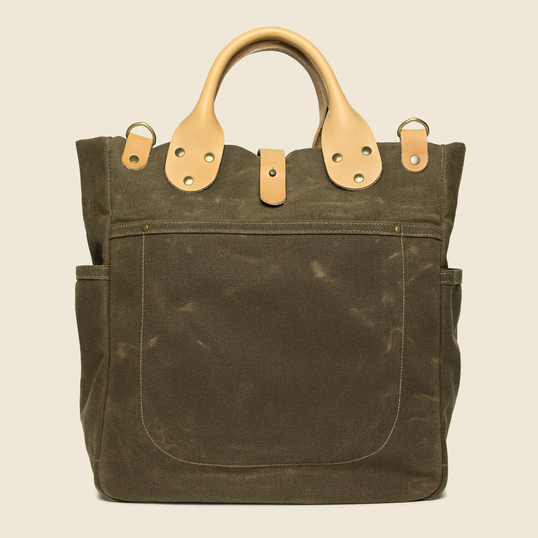 Winter Session Garrison Waxed Canvas Carry-All - Tan/Natural