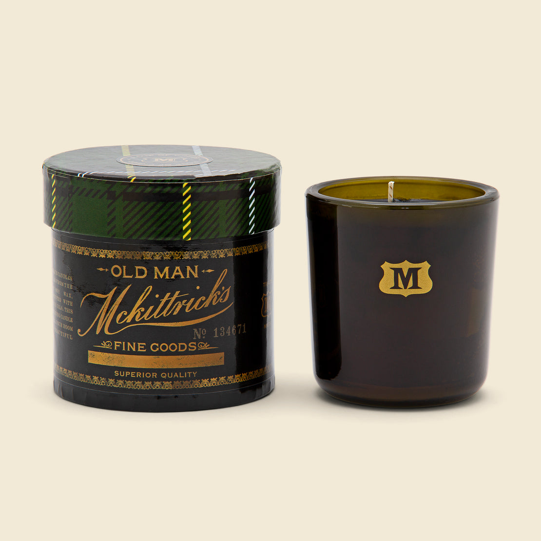 We Took To The Woods Candle 8.5oz - A Cup of Cheer, Tartan Box
