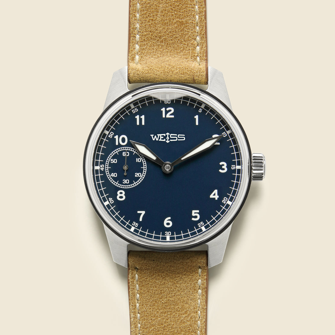 Weiss Watch Co Standard Issue Field Watch 38mm - White/Olive