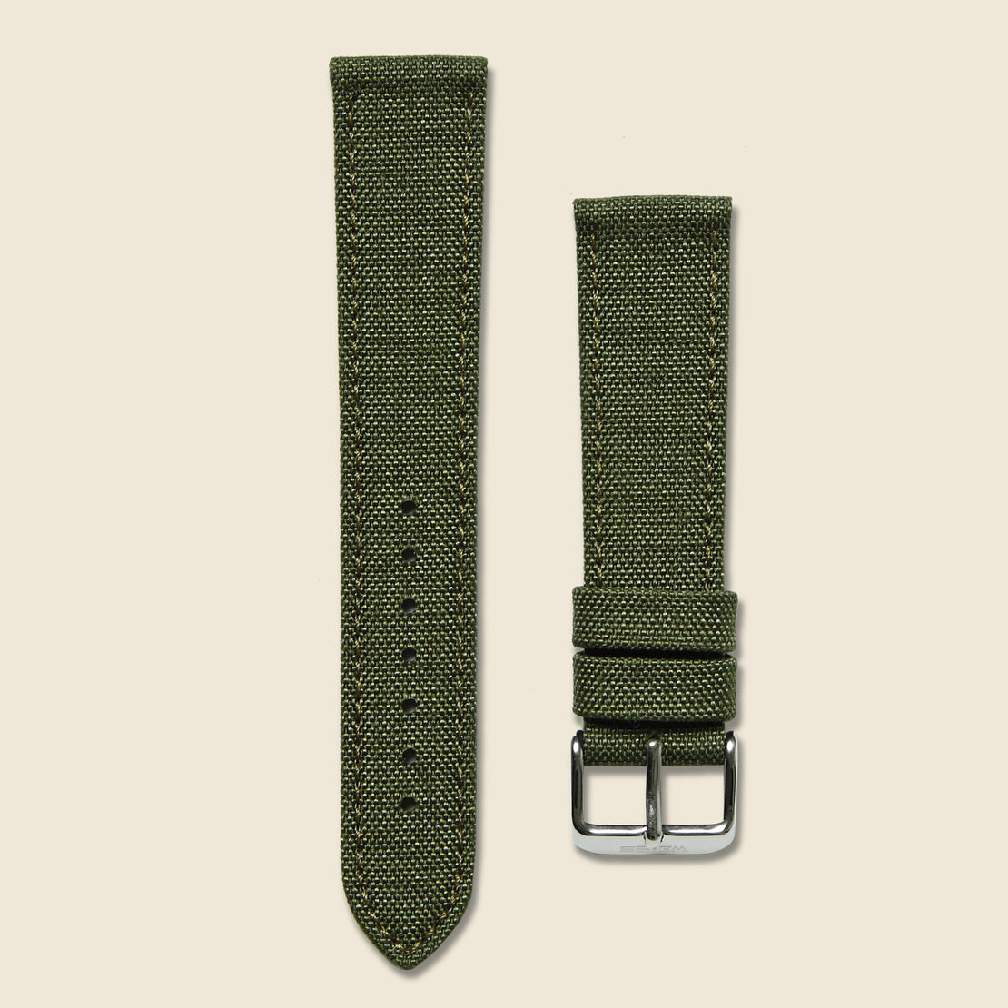 Weiss Watch Co Canvas Watch Band - Olive