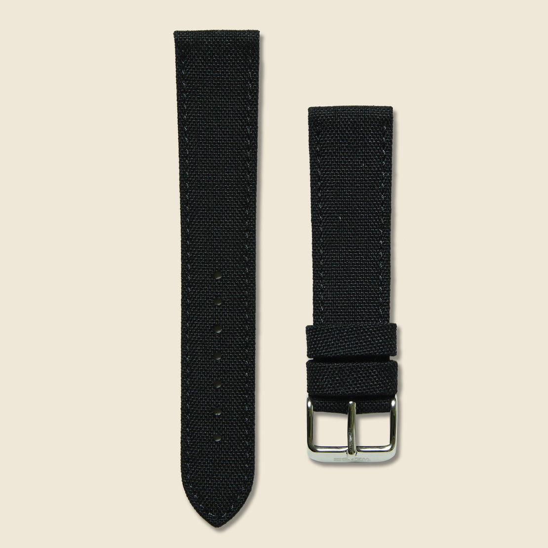 Weiss Watch Co Canvas Watch Band - Black