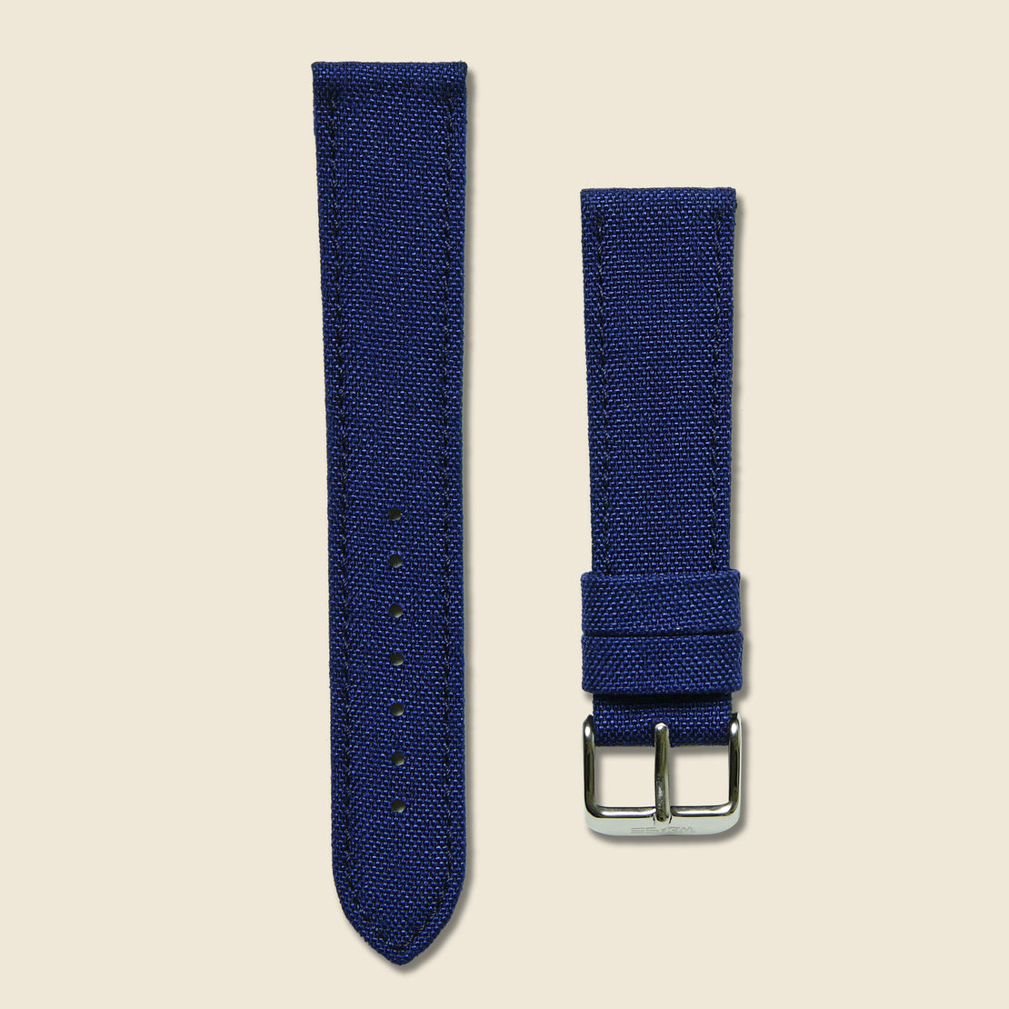 Weiss Watch Co Canvas Watch Band - Navy