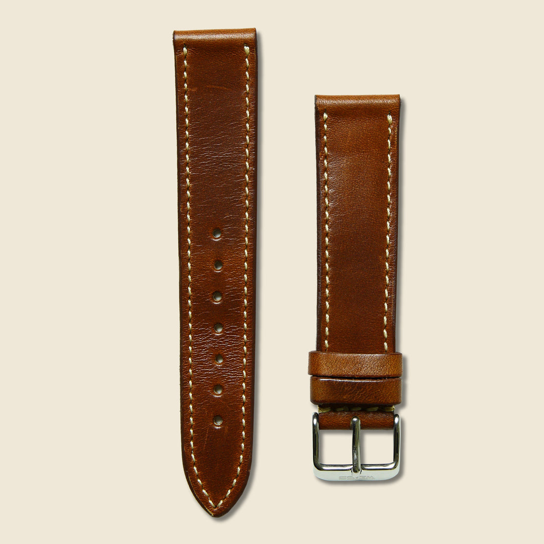 Weiss Watch Co Horween Leather Watch Band - Natural