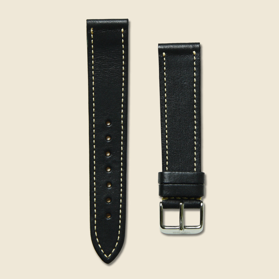 Weiss Watch Co Horween Leather Watch Band - Black