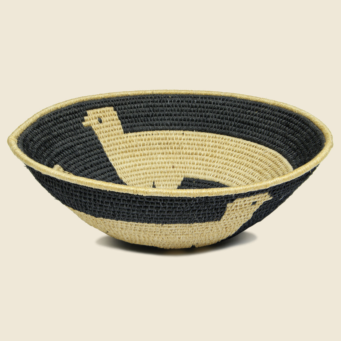 Vintage Papago-Style Native American Basket - Bird Motif