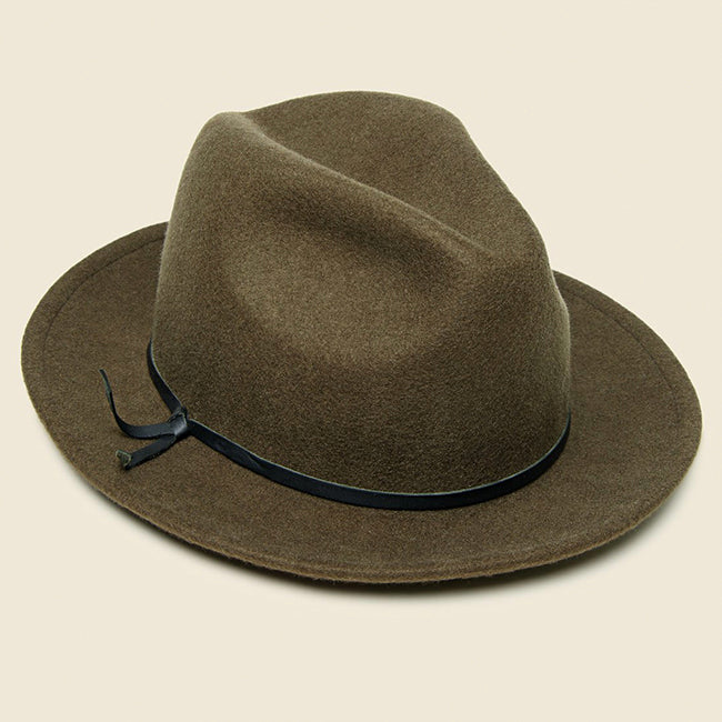 Yellow 108 Luke Fedora - Brown