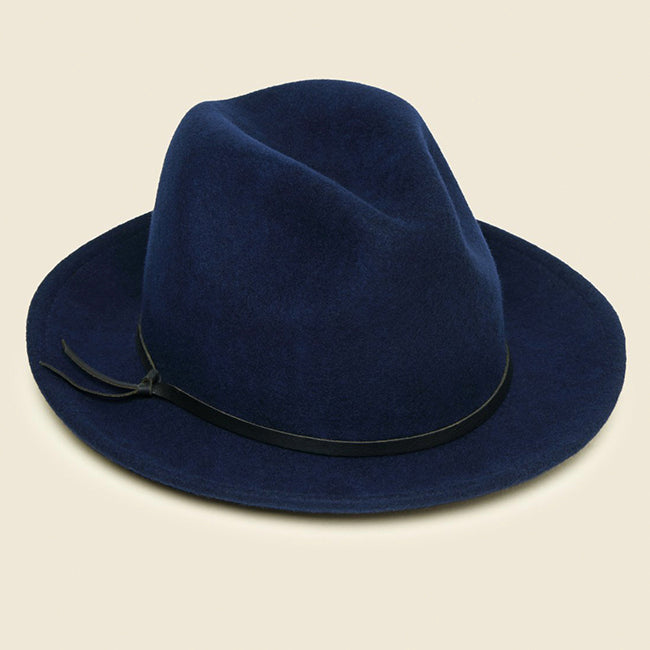 Yellow 108 Luke Fedora - Navy
