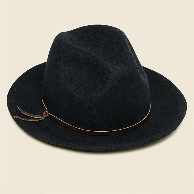 Yellow 108 Luke Fedora - Black